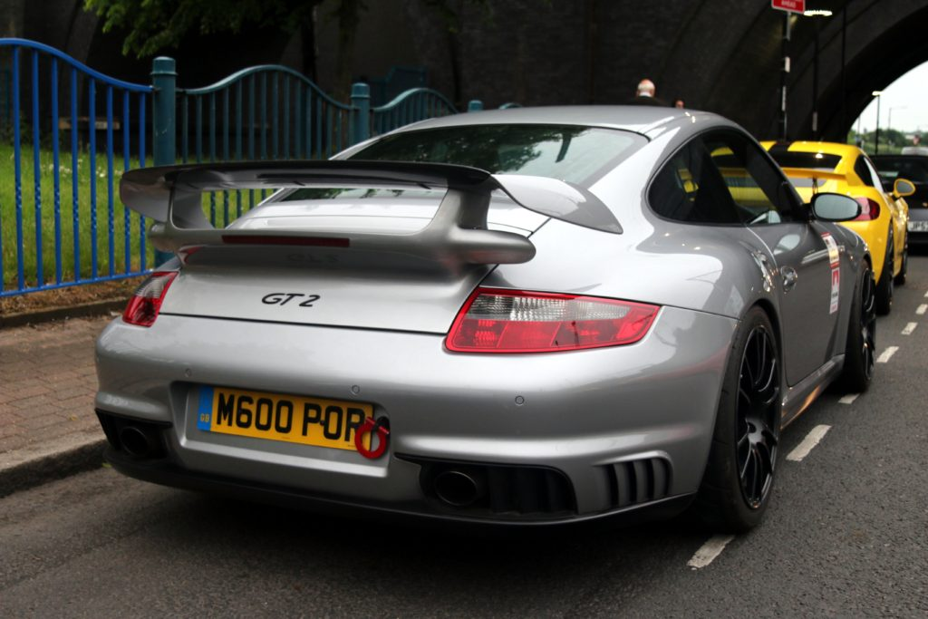 One of 3 GT2's. The only 997 there.